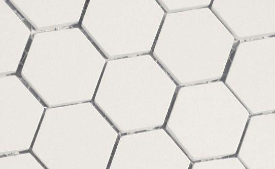 white hexagonal tile